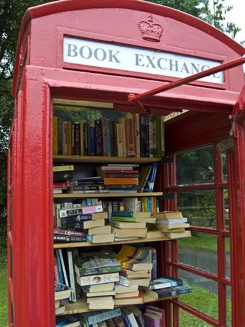 phone booth to little free library
