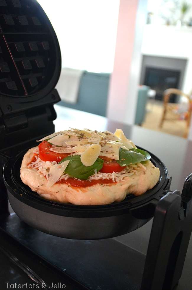 Margherita Pizza Waffle Recipe