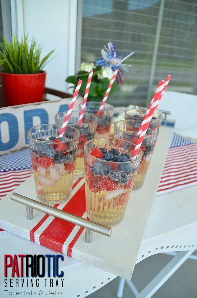 patriotic serving tray