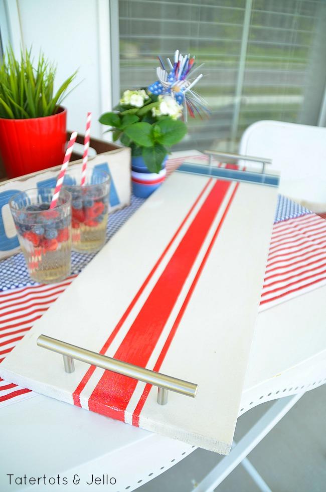 patriotic wood serving tray diy