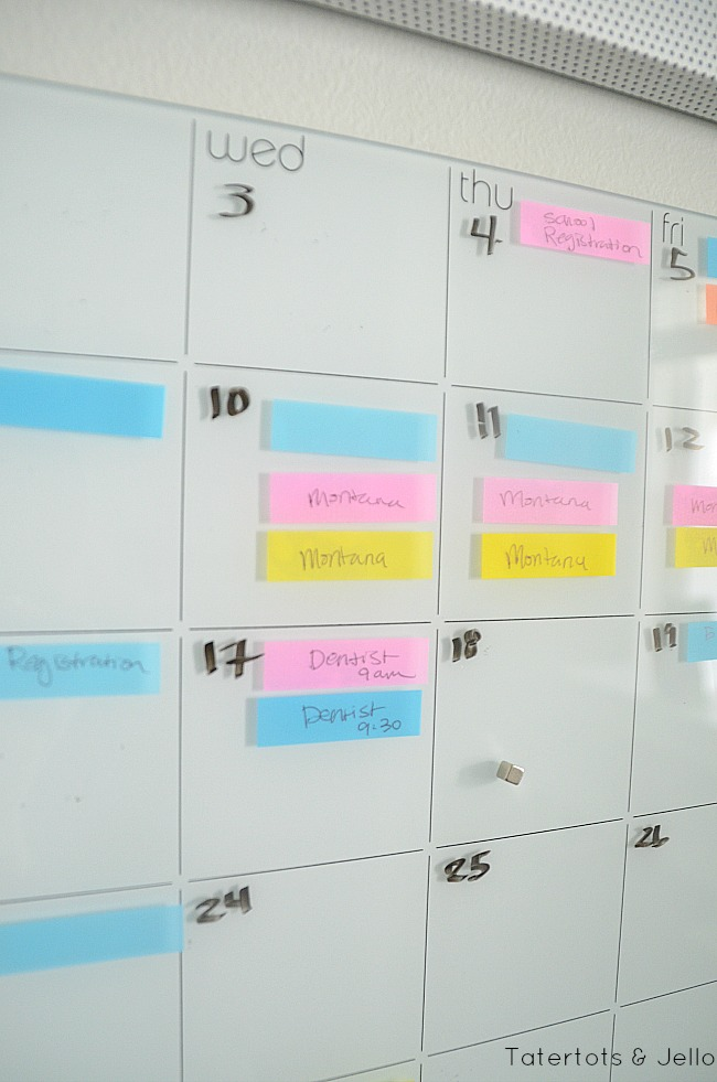 post it note flag calendar