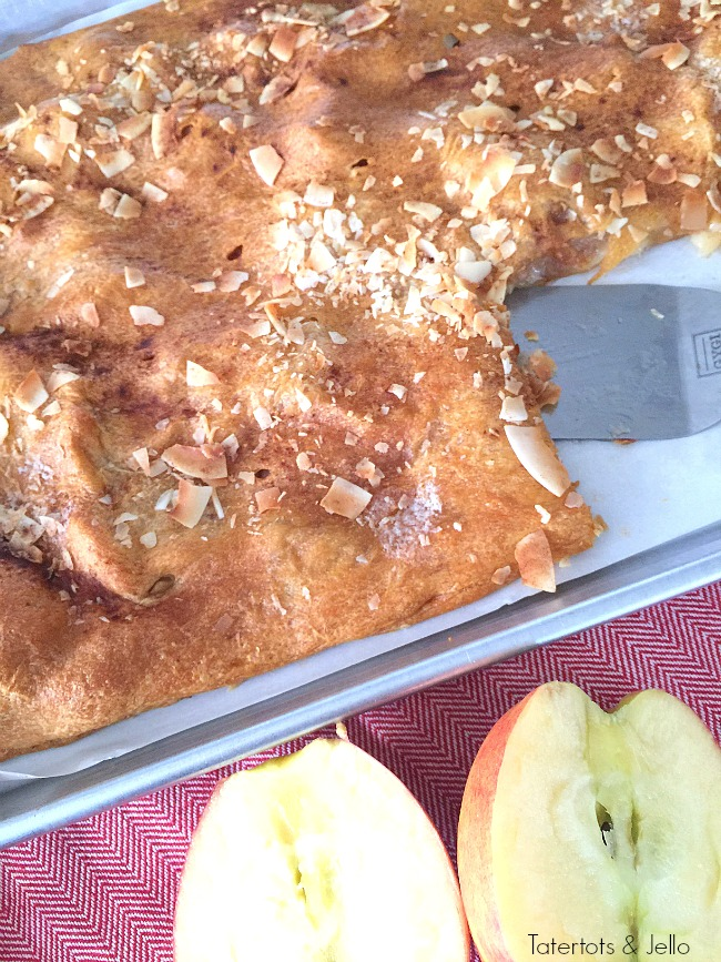 apple coconut croissant tart recipe