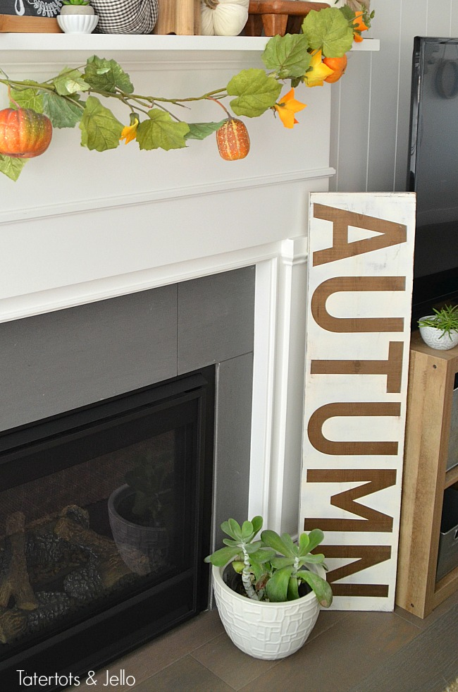 autumn fall sign tatertots and jello