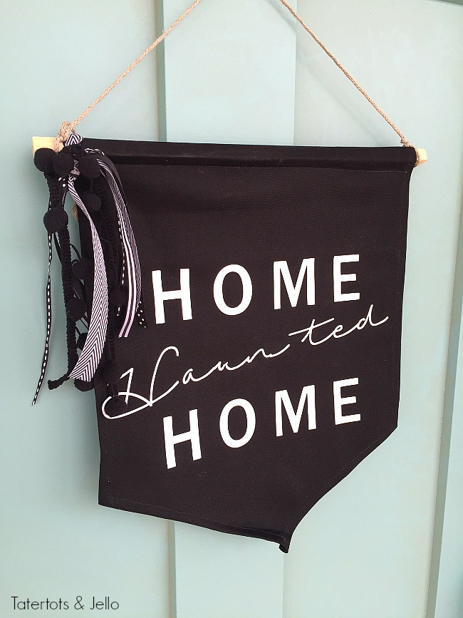 home haunted home giant pennant door hanging