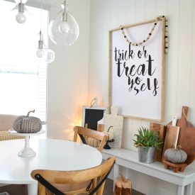 Modern Farmhouse Halloween Eating Area