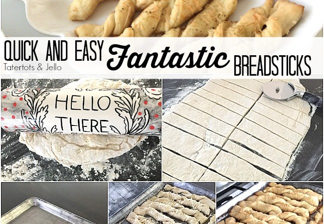 Quick and Easy FANTASTIC Breadsticks Recipe