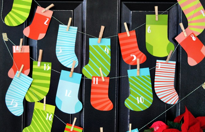 Stocking Countdown Christmas Printable