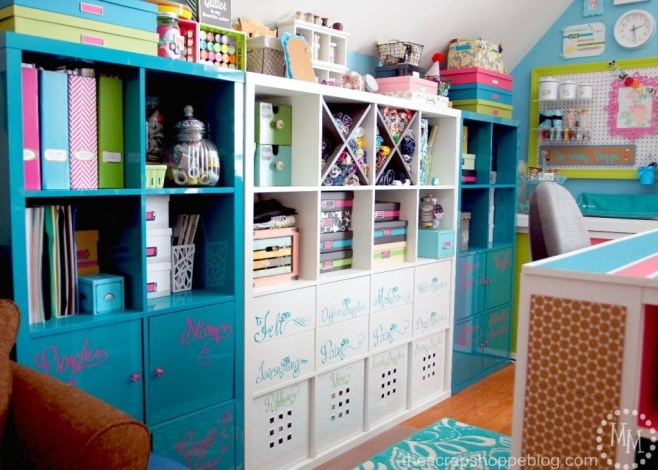Bright and colorful craft room reveal