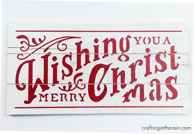 DIY Merry Christmas Sign