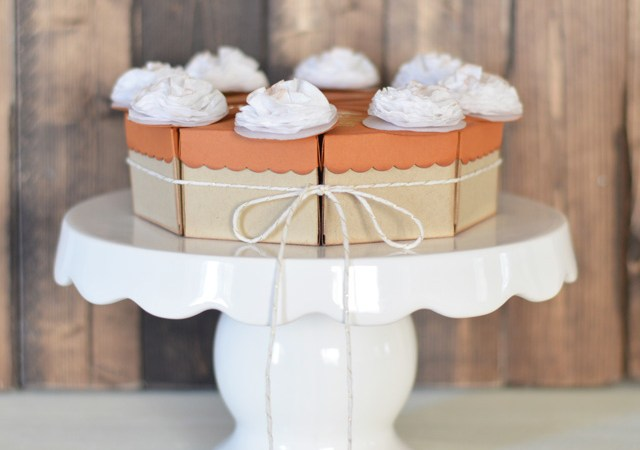 Mini Pie Box Thanksgiving Place Cards!