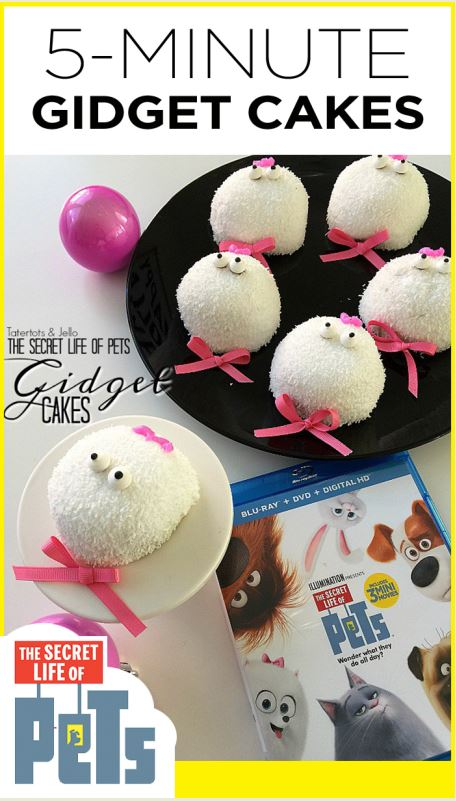 Make 5-minute Gidget cakes based on the Secret Life of Pets movie!  @PetsMovie