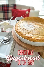 Giant Holiday Gingerbread Dutch Baby