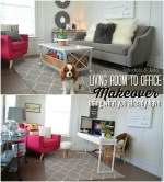 Living Room to Office Makeover using Items You Already Have