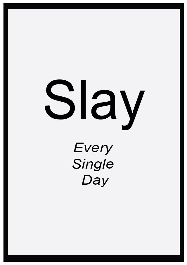SLAY Word of the Year Free Motivational Printables
