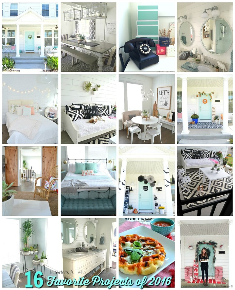 16 favorite projects of 2016 at tatertots and jello. 16 of my favorite projects from the year. DIY, decorating and recipes. Come see which ones were the favorites!