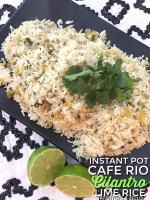 Cafe Rio-Inspired Instant Pot Cilantro Lime Rice
