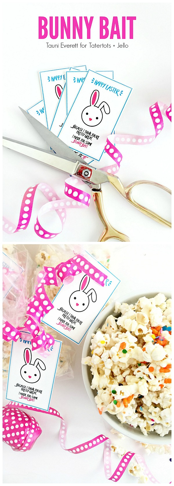 Bunny Bait Gift Idea and Printable Tags. Print off these cute tags and give someone you love a cute spring gift!