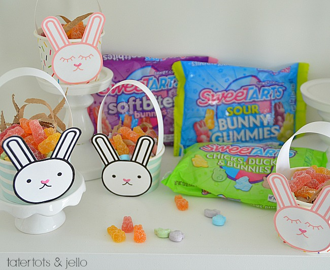 Mini Easter Bunny Baskets DIY tutorial