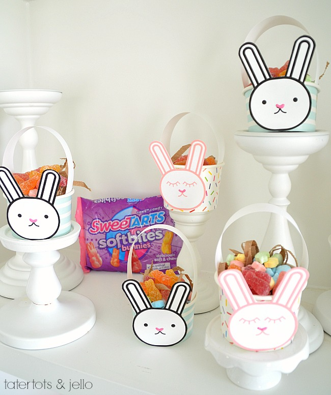 Mini Bunny Easter Basket Gifts