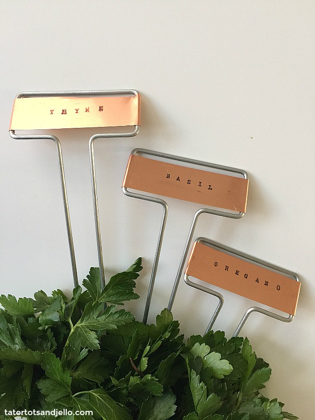 Charming How To Make A Tiered Herb Planter And DIY Stamped Herb Garden Markers.