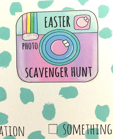 Easter Photo Scavenger Hunt game and printable checklist. Teens love easter fun too! Have them find clues on their phones in the neighborhood with this fun idea and printable!