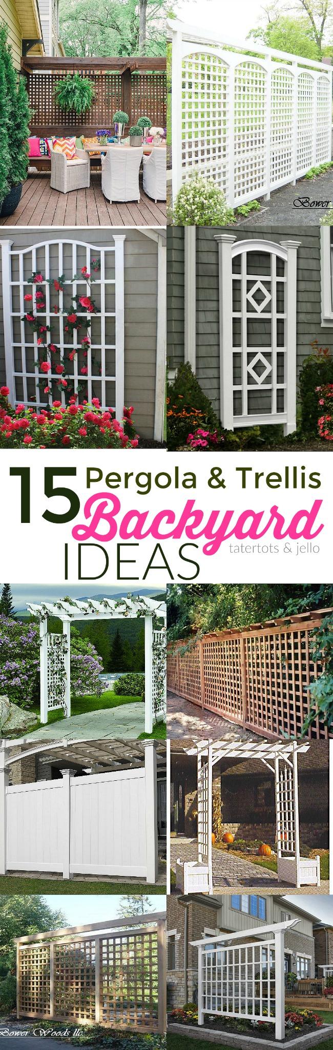 15 trellis and pergola backyard ideas tatertots and jello