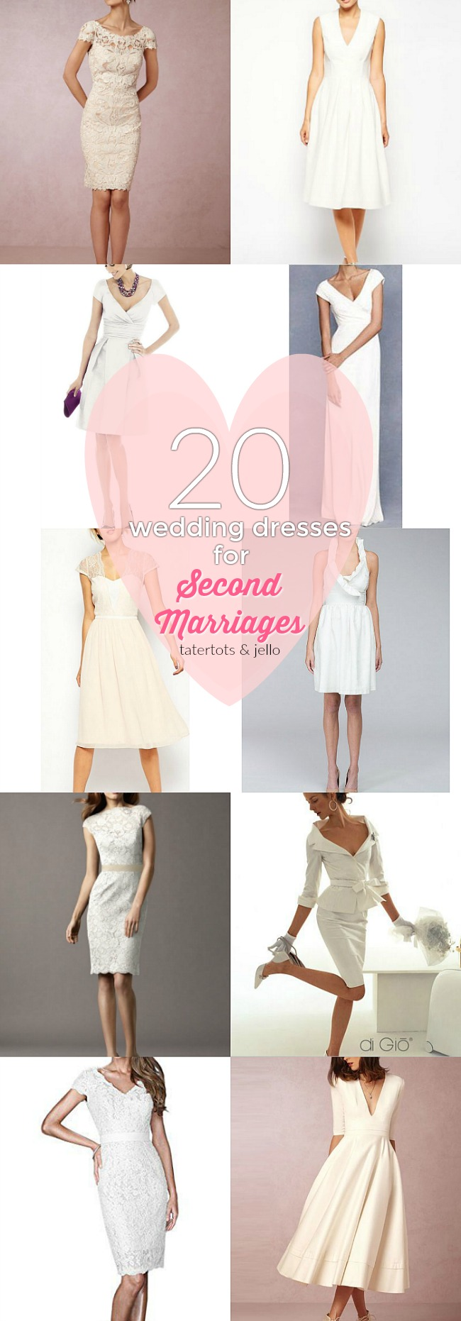 20 wedding dresses for second marriages and courthouse weddings tatertots and jello