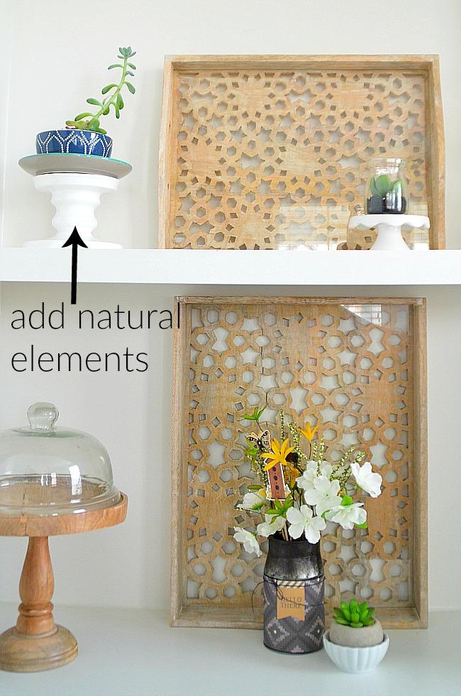 6 shelf styling ideas for shelves that POP. Easy eays to make your shelves SHINE!