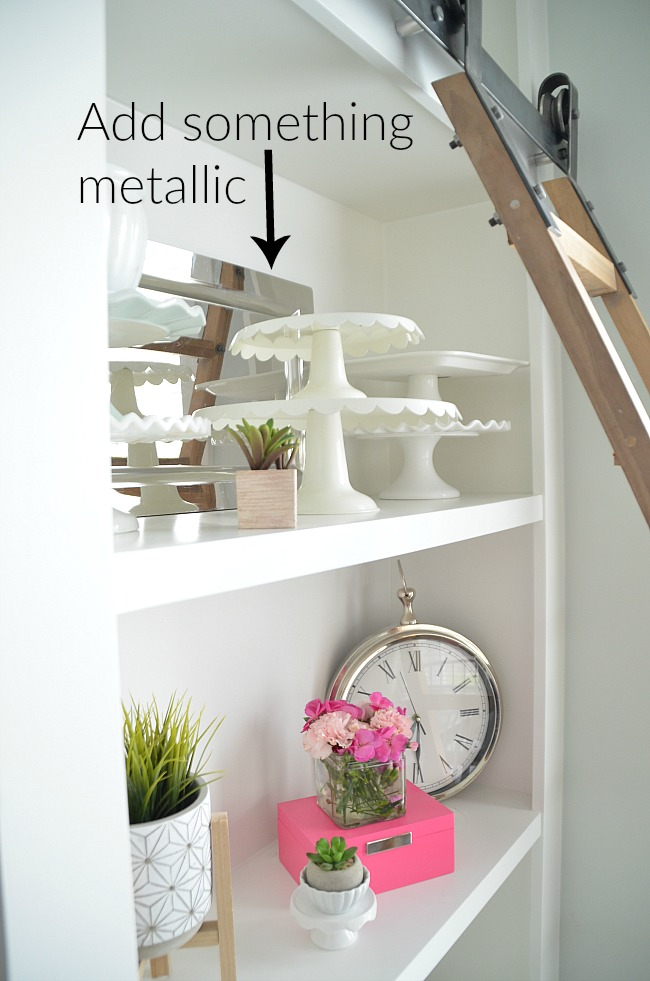 6 shelf styling ideas for shelves that POP. Easy eays to make your shelves SHINE!