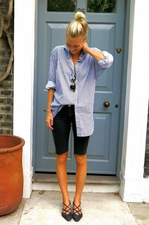 bermuda shorts refashion frayed hem