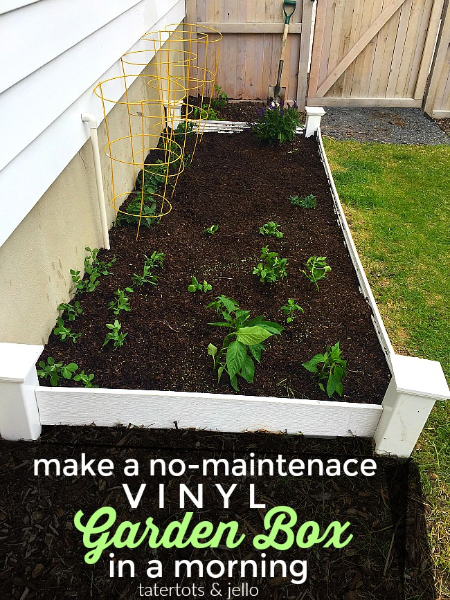 How To Make A No Maintenance Vinyl Garden Box