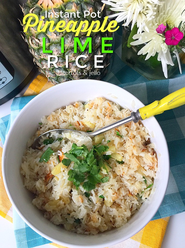 Pineapple Lime Rice is the perfect side dish this summer. The juicy tidbits of pineapple are complemented perfectly with the tart, citrus flavor of limes. And you can whip this up in 8 minutes in your pressure cooker!