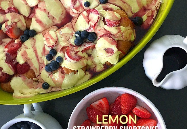 Lemon Strawberry Croissant Brunch Bake