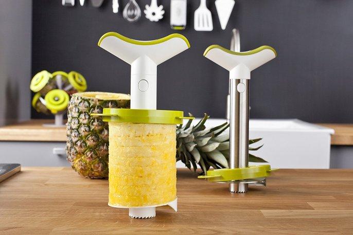 pineapple peeler, corer, slicer tool