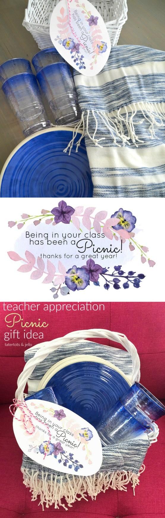 Teacher Appreciation Picnic Gift Idea Printable Tag