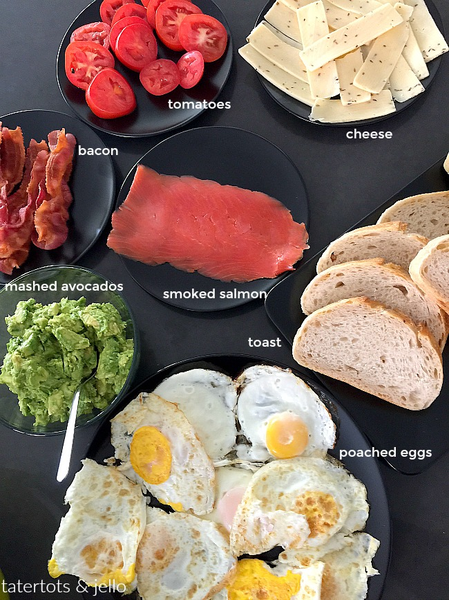 Avocado Toast Buffet. Avocado Toast is a healthy and delicious breakfast idea. The fun party of Avocado Toast are all of the different toppings you can add. Make an Avocado Toast buffet and see what your guests create!