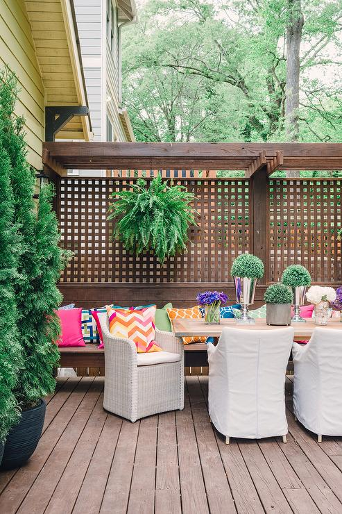 Fabulous Trellis and Lattice Screen with Bench Outdoor Privacy Screen and Pergola Ideas