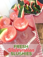Fresh and Delicious Watermelon Slushies!