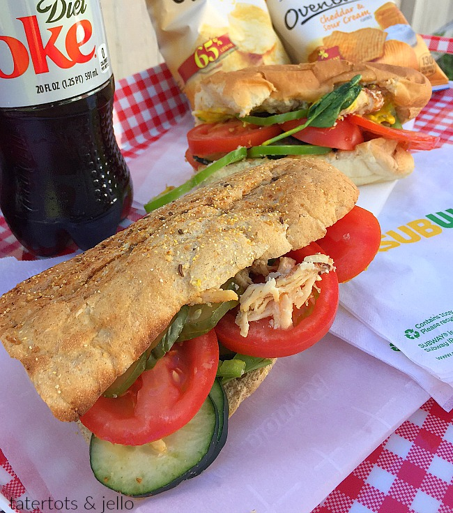 Eating healthy with subway. Review of the Subway Rotisserie-style chicken sandwich and why I choose Subway this summer.