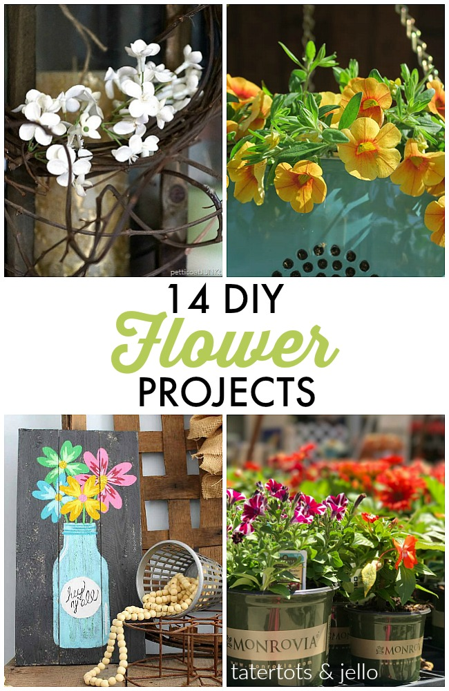 Great Ideas -- 14 DIY Flower Projects!