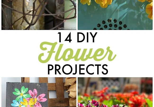 Great Ideas — 14 DIY Flower Projects!