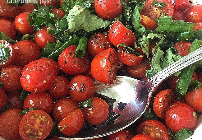 Easy Marinated Cherry Tomato Salad Recipe