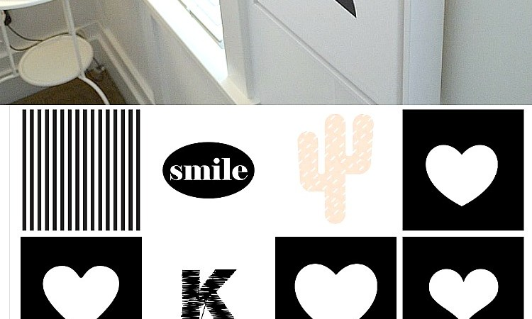 Black & White Kids Bedroom Printables