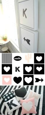 Black & White Kids Bedroom Printables