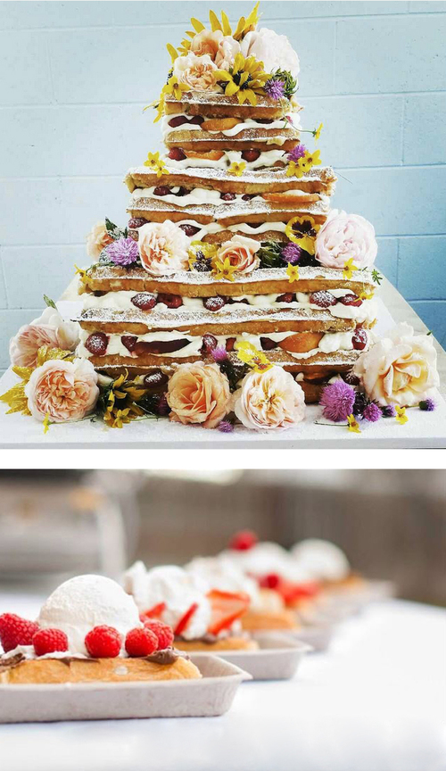 Our Wedding Waffle Love