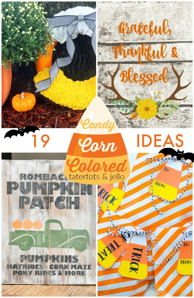 Great Ideas -- 19 Candy Corn Colored Ideas!