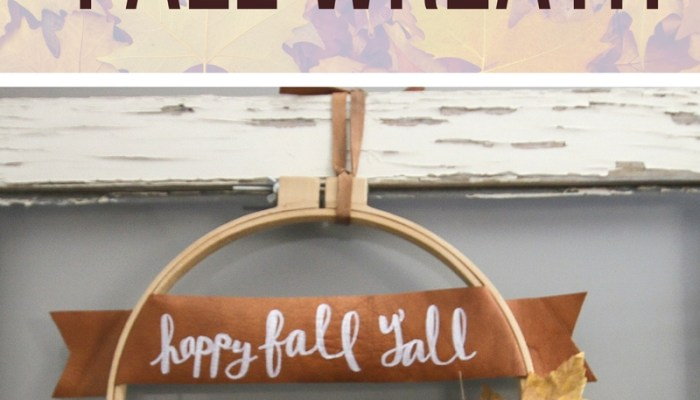 20-Minute Modern Leather Hoop Fall Wreath