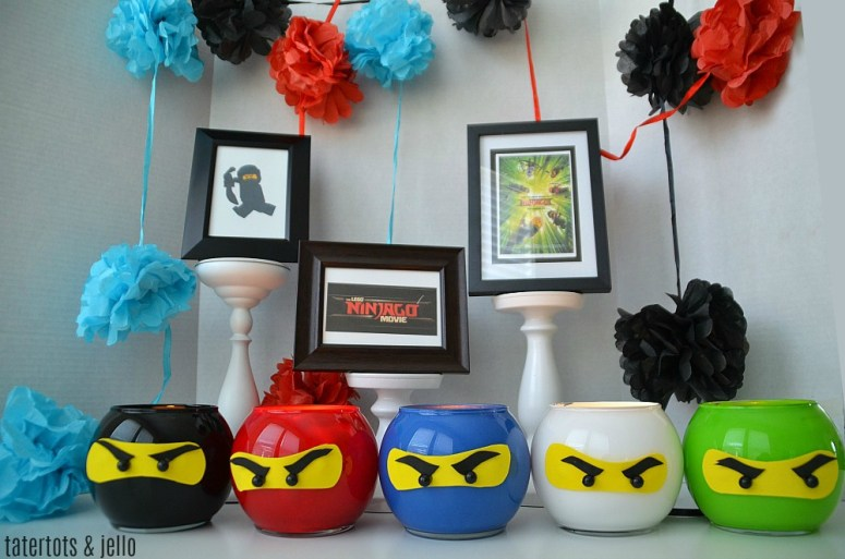 LEGO NINJAGO party lantern craft