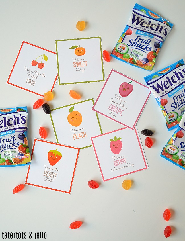 SWEET Printable Fruit Snack Lunch Box Notes