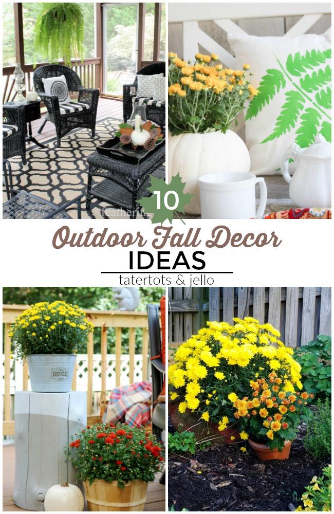 10 Colorful Outdoor Fall Decor Ideas!
